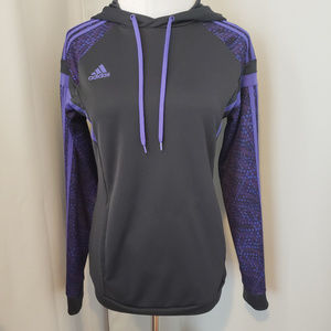 adidas hoodie purple and black geometric pattern